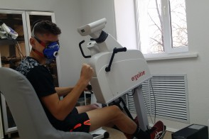 13.Gas analysis on the upper body ergometer